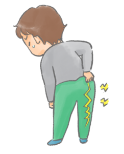 彦根市かがりの整骨院脊柱管狭窄症のイラスト