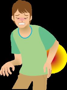 彦根市かがりの整骨院腰椎分離症・すべり症のイラスト